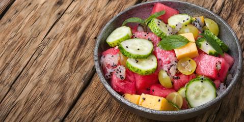 detox salad with watermelon