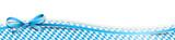 Oktoberfest Banderole mit Schleife und Rautenmuster blau weiß - 170142875