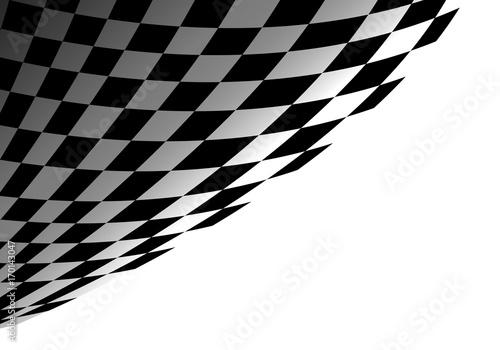 Fotobehang F1 Checkered flag on white design for sport race championship background vector illustration.