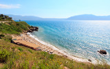 Beach on summer sea Vlore coast, Albania. - 170143893