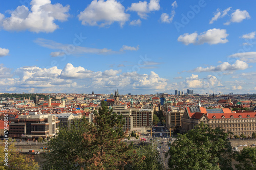 View of Prague from the top. Poster