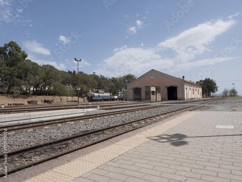 Papiers peints Voies ferrées Stazione ferroviaria di Mandas,Sardegna