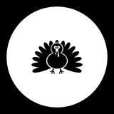 turkey cartoon simple silhouette black icon eps10