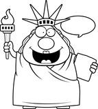 Cartoon Statue of Liberty Talking - 170152840
