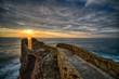 Door open to the sun/Road on the cliff overlooking the sunrise - 170153479