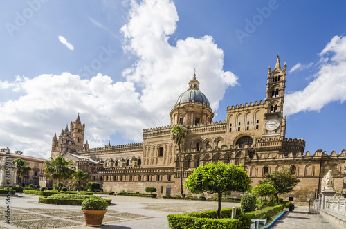 Aluminium Palermo Panoramic of the cathedral of Palermo Sicily