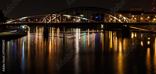 Foto op Plexiglas Krakau Bridge over Vistula River, Krakow