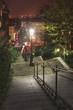 Rue Maurice Utrillo at night