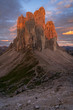 Leinwandbild Motiv Beautiful sunrise in Dolomites