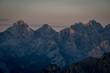 Leinwandbild Motiv Ridges of Dolomites cover by summer light