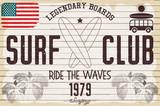 Retro Grunge Surfing Poster - 170164844