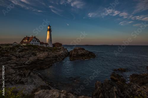 Fotobehang Vuurtoren Portland Light, Cape Elizabeth ME