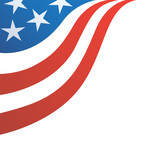 USA Flag Corner Design - 170200450