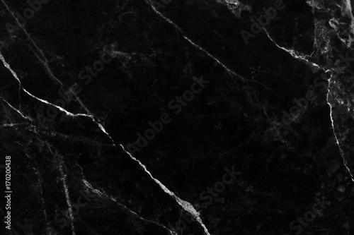 Czarny marmurowy tekstury tło naturalny z porysowanym.