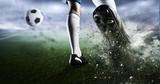 Soccer goal moment. Mixed media - 170205401