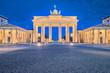 Brandenburg gate or Brandenburger Tor in Berlin, Germany at night