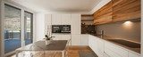Modern wood kitchen with view - 170225620