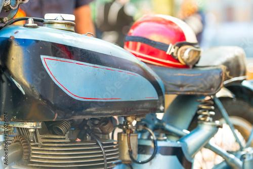 Fotobehang Fiets Vintage motorcycle