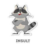 Isolated insulted raccoon.
