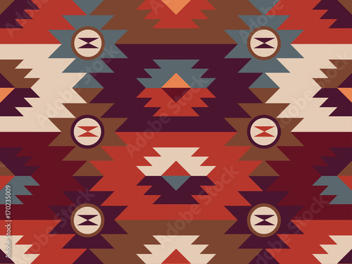 Abstract ethnic pattern. Background in navajo style - 170235009