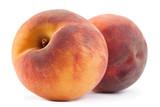 Peach fruit on white - 170235230