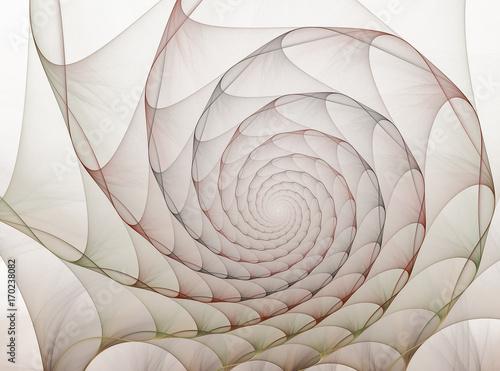 Fototapeta Tunel z abstrakcyjnych piór