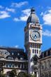 Clock Tower of the Gare de Lyon railway station. Paris, France
