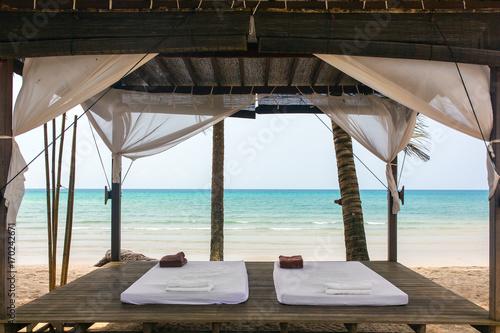 Papiers peints Bali Spa massage room on the beach in Thailand