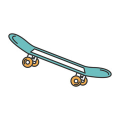 skate board isolated icon vector illustration design