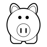 Pig of animal cartoon and farm theme Isolated design Vector illustration