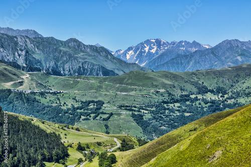 Aluminium Zomer Landscape in Pyrenees Mountains