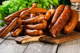 Assorted smoked sausages - 170250492