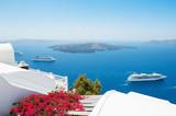 White architecture on Santorini island, Greece. - 170257258
