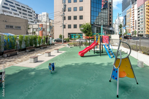 Fotobehang Amusementspark 芝大門二丁目児童遊園