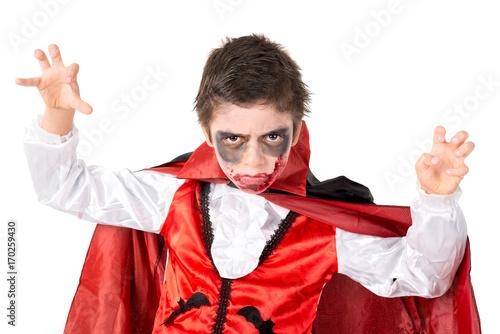 Kid in Halloween costume Poster