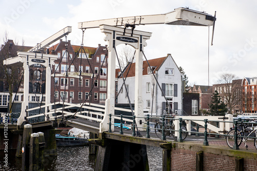 Foto op Plexiglas Amsterdam Zugbrücke