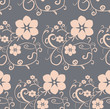 seamless abstract background, gray, pattern flowers - 170276269