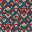 Fine Vintage Floral seamless pattern - 170276626