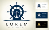 helm and anchor logo