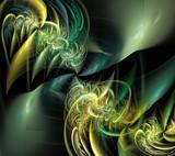fractal green curls-lamb - 170283839