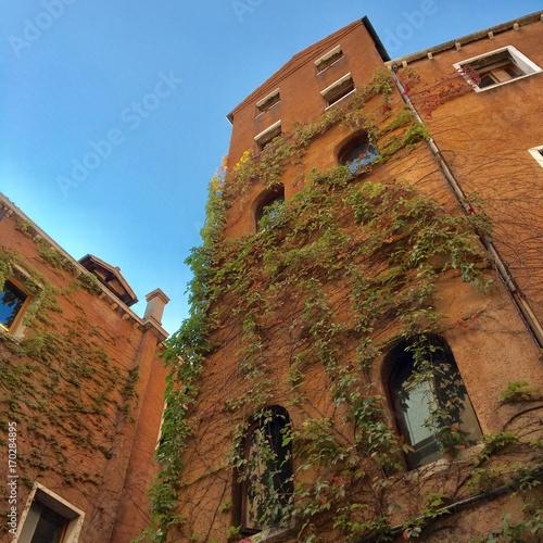Venise, ruelles, batiment
