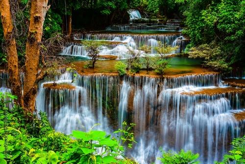 beautiful waterfall and nice nature