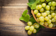 Fresh grapes in the basket