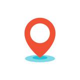 Geo location pin icon flat - 170304065