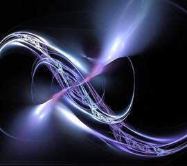 fractal blue twirl