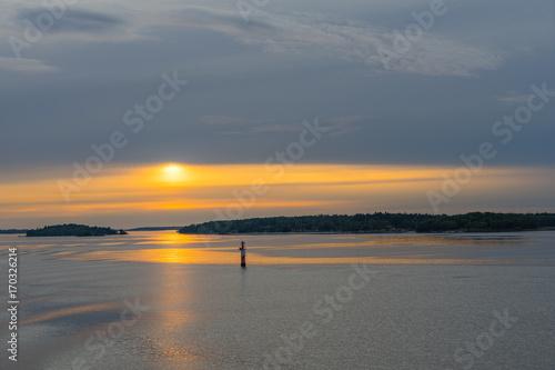 Fotobehang Stockholm Scandinavian landscape with islands,view from sea