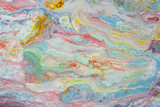 Abstract  fantasy background of a mix colorful paints