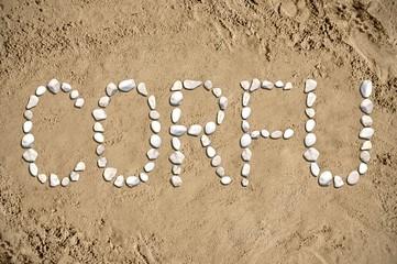 Corfu - beach, sand, stones