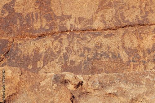 Tuinposter Algerije Twyfelfontein , Namibia desert