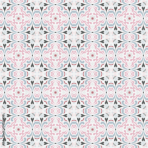 Blue and pink seamless pattern - 170346896